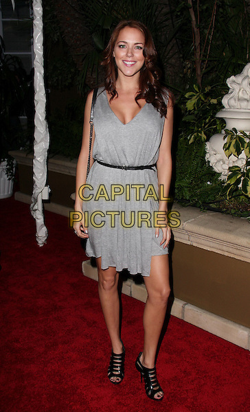 JULIA ANDERSON.QVC Red Carpet Style held at The Four Seasons Hotel, Beverly Hills, CA, USA..March 5th, 2010.full length dress sleeveless grey gray.CAP/ADM/CH.©Charles Harris/AdMedia/Capital Pictures