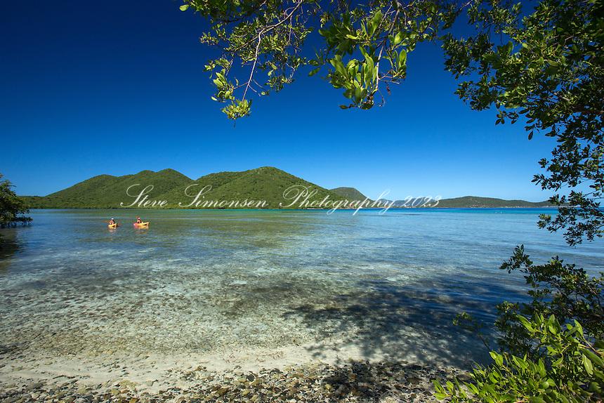 Mary Creek Kayakers<br /> Leinster Bay<br /> Virgin Islands National Park<br /> St. John<br /> US Virgin Islands