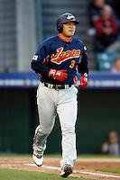Nobuhiko Matsunaka of Japan during World Baseball Championship at Angel Stadium in Anaheim,California on March 14, 2006. Photo by Larry Goren/Four Seam Images