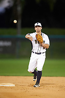 Pitt Panthers second baseman Matt Johnson (5) during practice before a game against the Ohio State Buckeyes on February 20, 2016 at Holman Stadium at Historic Dodgertown in Vero Beach, Florida.  Ohio State defeated Pitt 11-8 in thirteen innings.  (Mike Janes/Four Seam Images)