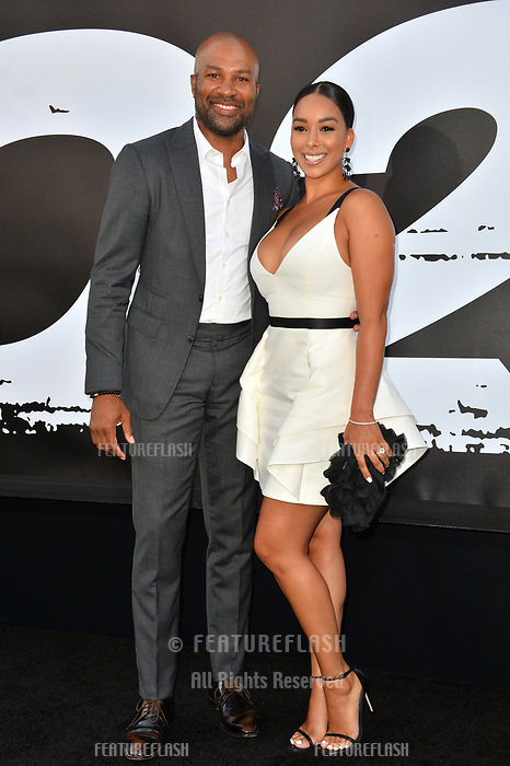Derek Fisher &amp; Gloria Govan at the premiere for &quot;The Equalizer 2&quot; at the TCL Chinese Theatre, Los Angeles, USA 17 July 2018<br /> Picture: Paul Smith/Featureflash/SilverHub 0208 004 5359 sales@silverhubmedia.com