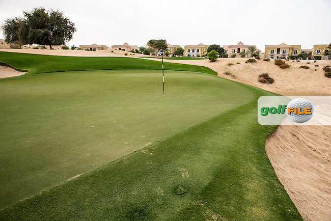 8th green at The Els Club , Dubai, United Arab Emirates.  28/01/2016. Picture: Golffile | David Lloyd<br /> <br /> All photos usage must carry mandatory copyright credit (&copy; Golffile | David Lloyd)