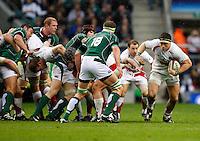 Photo: Richard Lane/Richard Lane Photography. .England v Ireland. RBS Six Nations. 15/03/2008. England's Andrew Sheridan attacks.