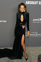NEW YORK, NY - FEBRUARY 6: Alessandra Ambrosio arriving at the 21st annual amfAR Gala New York benefit for AIDS research during New York Fashion Week at Cipriani Wall Street in New York City on February 6, 2019. <br /> CAP/MPI/JP<br /> &copy;JP/MPI/Capital Pictures