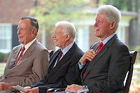 Former Presidents George Bush,<br /> Jimmy Carter, Bill Clinton<br /> At Billy Graham Library In Charlotte North Carolina Opening