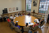 Professor Danzy Senna, Remsen Bird Visiting Artist, 2008-2009.<br /> Galarza Room. Photo from Occidental College's Mary Norton Clapp Library, September 9, 2008, Los Angeles, Calif. (Photo by Marc Campos, College Photographer)