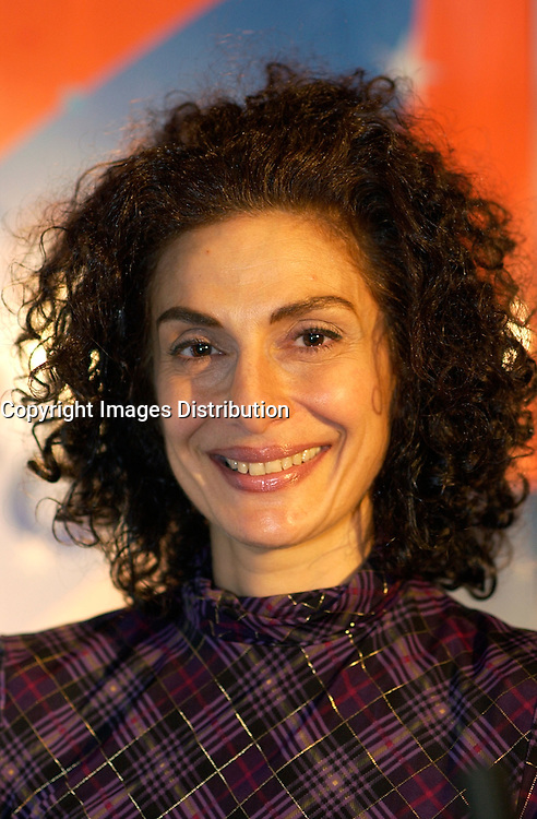 March 12th, 2002, Montreal, Quebec, Canada<br /> <br /> Algerian Singer Sylva  Balassanian  Pose for photographers after the press conference for the upcoming Franco Fete, in Quebec City.<br /> March 12th 2002, in Montreal, Canada<br /> <br /> <br /> <br /> <br /> <br /> <br /> (Mandatory Credit: Photo by Sevy - Images Distribution (&copy;) Copyright 2002 by Sevy<br /> <br /> NOTE :  D-1 H original JPEG, saved as Adobe 1998 RGB