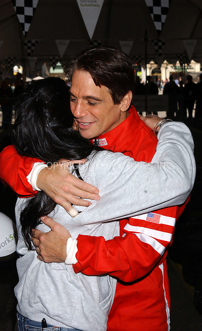 WWW.ACEPIXS.COM . . . . . ....NEW YORK, OCTOBER 20, 2005....Tony Danza and Danica Patrick at the Race to Network Solutions Go Kart Challenge held at Union Square.....Please byline: KRISTIN CALLAHAN - ACE PICTURES.. . . . . . ..Ace Pictures, Inc:  ..Craig Ashby (212) 243-8787..e-mail: picturedesk@acepixs.com..web: http://www.acepixs.com