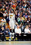 17 January 2010: University of Vermont Catamount guard Simeon Marsalis, a Freshman from New Rochelle, NY, in action against the Boston University Terriers at Patrick Gymnasium in Burlington, Vermont. The Catamounts, holding the lead for the entire game, defeated the Terriers 78-58. Mandatory Credit: Ed Wolfstein Photo