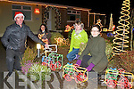 The Purcell family from Killorglin who have erected Christmas Lights outside their house to help raise funds for Living Links  l-r: Joe, Denise, Caoimhe and Naoishe.