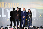 "Director Quentin Tarantino, actor Leonardo Dicaprio and producer Shannon McIntosh attend the Japan premiere for their movie ""Once Upon a Time in Hollywood"" in Tokyo, Japan on August 26, 2019. The film will be released in Japan on August 30. (Photo by AFLO)"