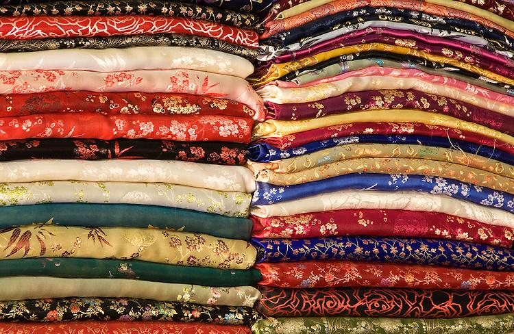 Silk Fabric 04 - Silk fabrics, Hoi An, Viet Nam.