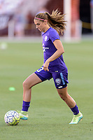 Alex Morgan (13) of the Orlando Pride warming up prior to their game with the Houston Dash on Friday, May 20, 2016 at BBVA Compass Stadium in Houston Texas. The Orlando Pride defeated the Houston Dash 1-0.