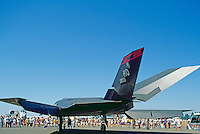 US Air Force Lockheed F-117A Nighthawk Stealth Fighter on Static Display - at Abbotsford International Airshow, BC, British Columbia, Canada