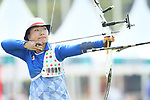 Ayano Kato (JPN), <br /> AUGUST 27, 2018 - Archery : <br /> Women's Recurve Team Bronze Medal Match<br /> at Gelora Bung Karno Archery Field <br /> during the 2018 Jakarta Palembang Asian Games <br /> in Jakarta, Indonesia. <br /> (Photo by Naoki Morita/AFLO SPORT)