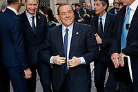 Silvio Berlusconi<br /> Rome February 20th 2019. Silvio Berlusconi enters the Senate to participate in the Assembly of parliamentarians and europarliamentarians of Forza center-right Italia Party<br /> Foto Samantha Zucchi Insidefoto