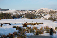 Snow, Dinkling Green Farm, Whitewell, Lancashire.
