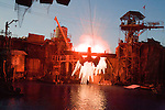 The Waterworld live special effects stunt show at Universal Studios Hollywood