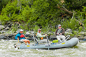 Private Rafters, Kayakers, Canoers, Paddle Boarders & Tubers crashing Cable Rapid while running the Upper Colorado River from Rancho Del Rio to State Bridge on August 17, 2014.