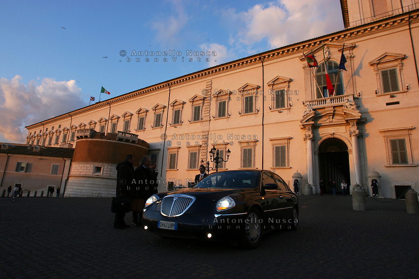 The Quirinale Palace, the official residence of the President of the Italian Republic in Rome. Il Palazzo del Quirinale