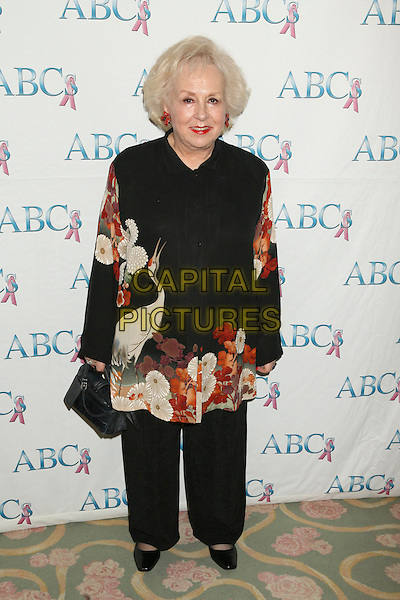 DORIS ROBERTS.St. John's Hospital Annual Mother's Day Luncheon held at the Beverly Hills Hotel, Beverly Hills, California, USA..May 9th, 2007 .full length black trousers top floral print pattern bird stork .CAP/ADM/RE.©Russ Elliot/AdMedia/Capital Pictures