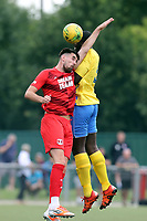 Oliver Gnandi of Harlow Town and Conor Wilkinson of Leyton Orient during Harlow Town vs Leyton Orient, Friendly Match Football at The Harlow Arena on 6th July 2019