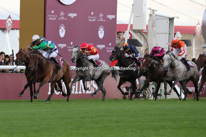 October 06, 2019, Paris (France) - One Master (10) with Pierre-Charles Boudot up wins the Qatar Prix de la Foret (Gr I) on October 6 in ParisLongchamp. [Copyright (c) Sandra Scherning/Eclipse Sportswire)]