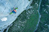 Uisdean Hawthorn on the final pitch of 'Salta Minchia! Ce Una Stella Che Cade' 6c, Verdon Gorge, France