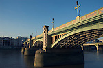 View of Southwark Bridge over the River Thames, London UK