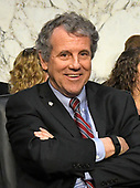 United States Senator Sherrod Brown (Democrat of Ohio) at the US Senate Committee on Banking, Housing, and Urban Affairs hearing on the nomination of Jerome H. Powell to be Chairman of the Board of Governors of the Federal Reserve System on Capitol Hill in Washington, DC on Tuesday, November 28, 2017.<br /> Credit: Ron Sachs / CNP