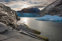 Nellie Juan Glacier, Nellie Juan Lagoon, Prince William Sound, Chugach National Forest, Kenai Peninsula, southcentral, Alaska.