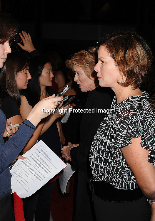 """Holland Taylor and Marcia Gay Harden..arriving at """"Events of the Heart"""" Gala on October 1, 2007 ..at Jazz at Lincoln Center.....Photo by Robin Platzer, Twin Images....212-935-0770"""