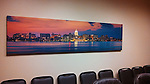 A large-scale (two by eight feet) panoramic image by Michael Knapstein installed in the main conference room at Klaas Financial in Fithchburg, Wisconsin.