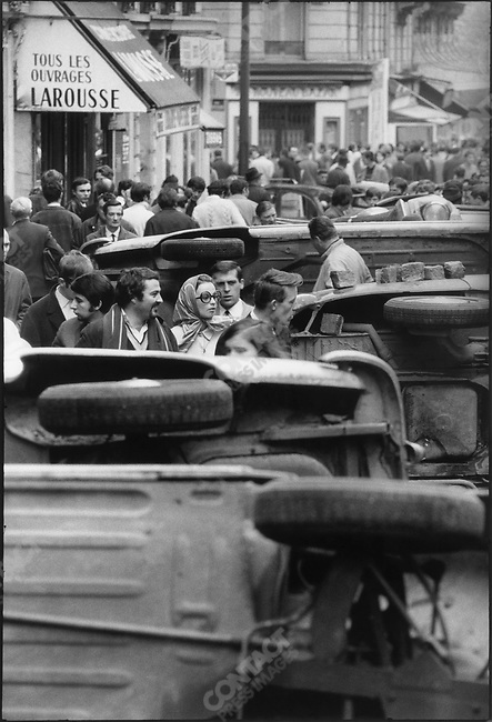 The 1968 May Events, rue Gay Lussac, Paris, France, May 11, 1968.