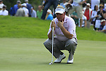 Darren Clarke lines up his putt on the 1st green during his round on Day 2 of The BMW International Open Munich at Eichenried Golf Club, 25th June 2010 (Photo by Eoin Clarke/GOLFFILE).