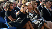 First lady Michelle Obama and families of the victims reflect at a memorial for the victims of the Washington Navy Yard shooting at the Marine Barracks, September 22, 2013 in Washington, D.C.  The President and first lady also visited with families of the victims. <br /> Credit: Olivier Douliery / Pool via CNP