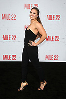 WESTWOOD, CA - AUGUST 9: Ronda Rousey, at Premiere Of STX Films' &quot;Mile 22&quot; at The Regency Village Theatre in Westwood, California on August 9, 2018.<br /> CAP/MPIFS<br /> &copy;MPIFS/Capital Pictures