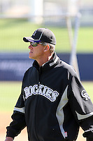 Jim Tracy - manager, Colorado Rockies 2010 spring training, before a game against the Milwaukee Brewers at Maryvale Stadium, Phoenix, AZ - 03/14/2010..Photo by:  Bill Mitchell/Four Seam Images.