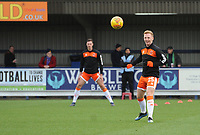 Blackpool's Callum Guy during the pre-match warm-up <br /> <br /> Photographer Kevin Barnes/CameraSport<br /> <br /> The EFL Sky Bet League One - AFC Wimbledon v Blackpool - Saturday 29th December 2018 - Kingsmeadow Stadium - London<br /> <br /> World Copyright &copy; 2018 CameraSport. All rights reserved. 43 Linden Ave. Countesthorpe. Leicester. England. LE8 5PG - Tel: +44 (0) 116 277 4147 - admin@camerasport.com - www.camerasport.com