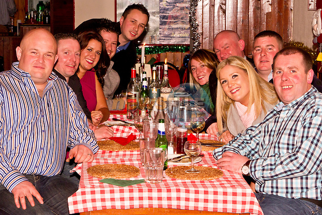 Members of the Drogheda Coast Guard Unit in Le Pizzeria for Christmas..Picture: Shane Maguire / www.newsfile.ie.