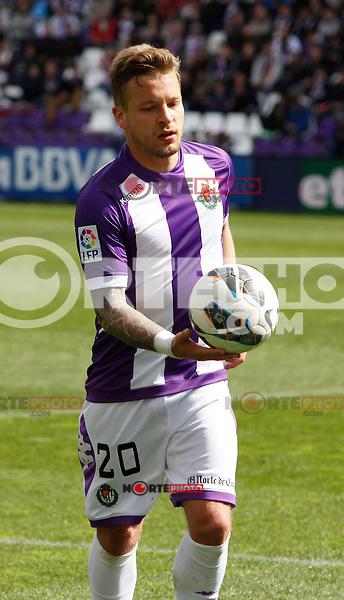 Real Valladolid´s Ebert during match of La Liga 2012/13. 31/03/2013. Victor Blanco/Alterphotos /NortePhoto