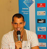 Romain Mesnil at the Samsung Diamond League press conference, Pullman Hotel. Paris,France Thursday, July  15, 2010. photo by Errol Anderson.