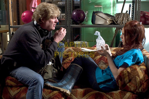 DONALD PETRIE (DIRECTOR) & LINDSAY LOHAN.on the set of Just My Luck (2006).*Filmstill - Editorial Use Only*.CAP/AWFF.Supplied by Capital Pictures.