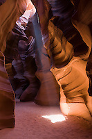 Antelope Canyon, Page/Lake Powell, Arizona Located on a Navajo reservation, Antelope Canyon offers a fascinating display of the geological feat water can gradually accomplish through thousands of years of carving through sandstone.