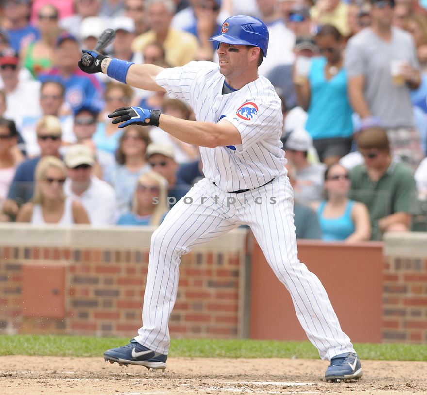 JIM EDMONDS, of the Chicago Cubs , in action during the Cubs  game against the San Francisco Giants  on July 12, 2008 in Chicago . The Cubs won  game 8-7.