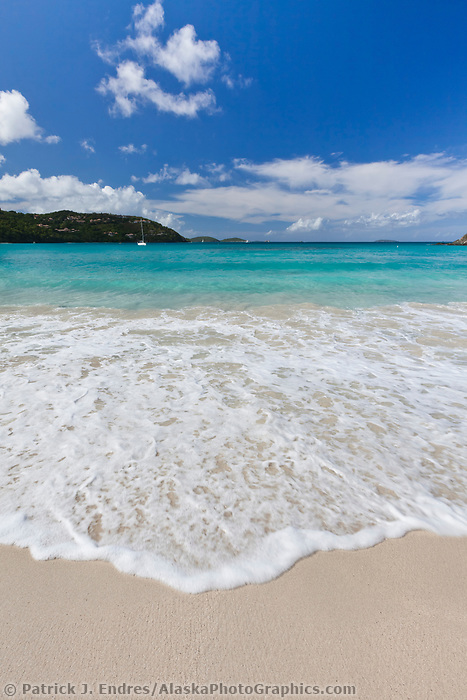 Cinnamon Bay beach on the island of St. John, Virgin Islands. Virgin Islands National Park