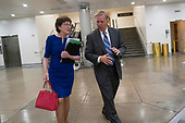 United States Senator Susan Collins (Republican of Maine) and United States Senator Lindsey Graham (Republican of South Carolina) walk through the Senate subway after leaving the Senate floor on Capitol Hill in Washington D.C. on June 12, 2019.<br /> <br /> Credit: Stefani Reynolds / CNP