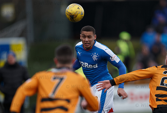 James Tavernier heads just over