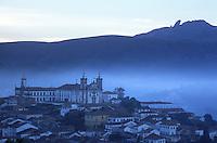 Igreja do Carmo, one of13 baroque masterpiece churches, towers above the small city of Ouro Preto in Brazil's interior.