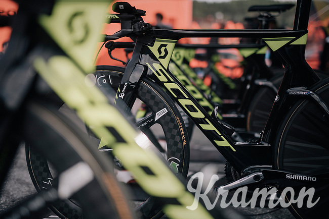 Team Orica-Scott bikes ready<br /> <br /> Men's Team Time Trial<br /> <br /> UCI 2017 Road World Championships - Bergen/Norway